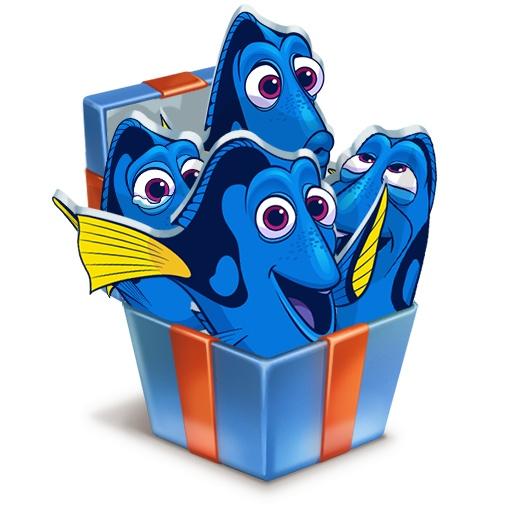 стикеры для вконтакте рыбка дорри получить бесплатно